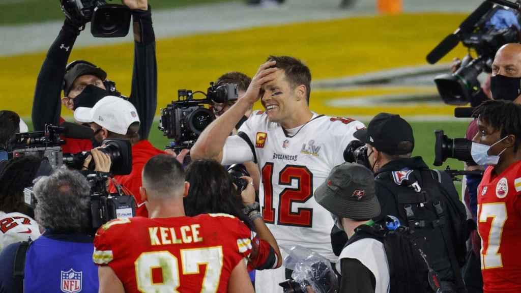 La emoción de Tom Brady tras lograr su séptimo anillo de campeón de la NFL