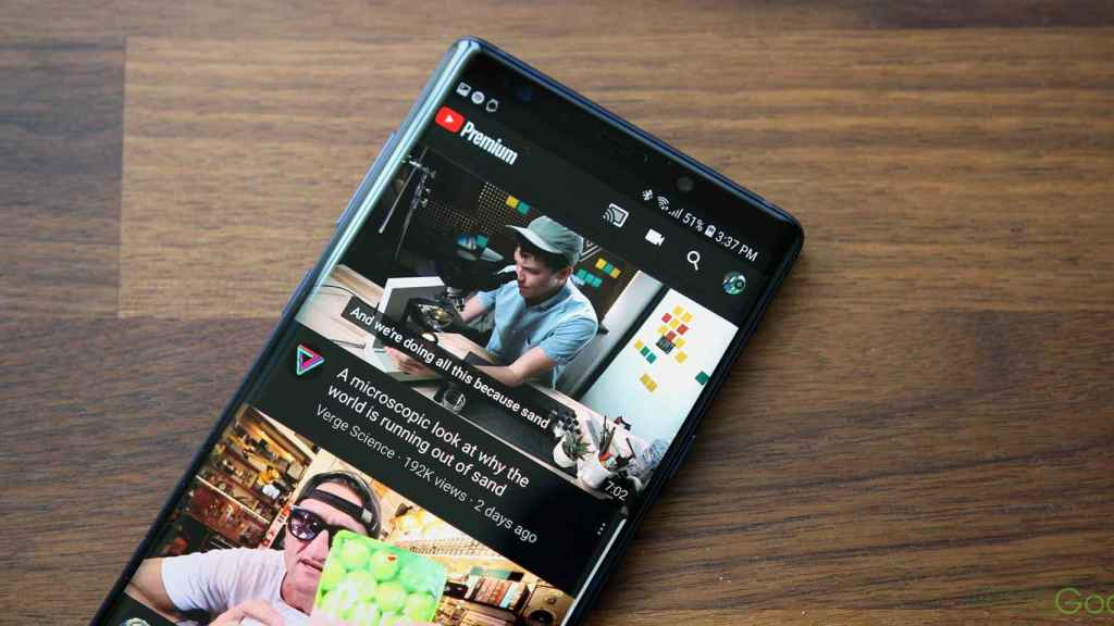Youtube sur Android
