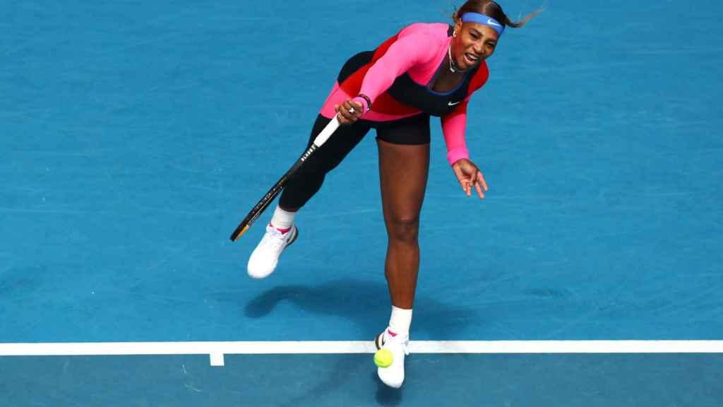 Serena Williams, en un partido del Open de Australia 2021