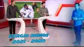 Felipe del Campo, en Directo Gol, estrenando el 'Golograma'