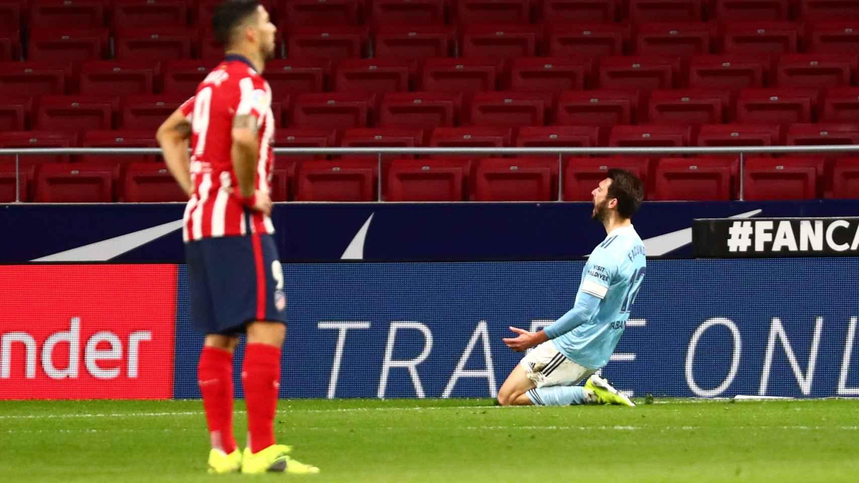 Facundo Ferreyra celebra el gol del empate en el 90'