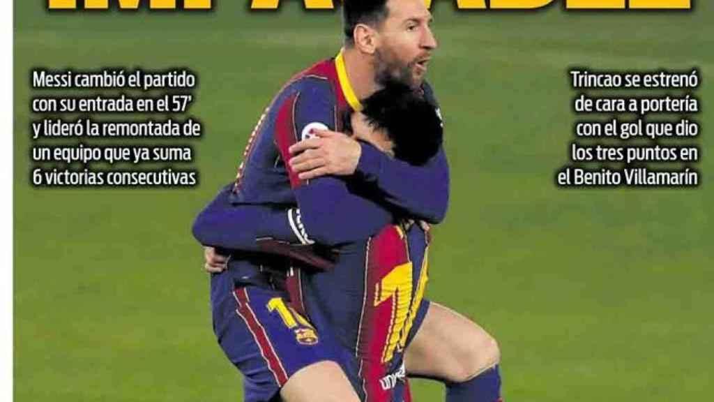La portada del diario SPORT (08/02/2021)