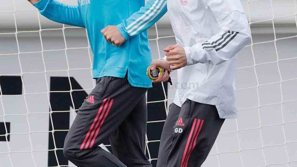 Fede Valverde, durante un entrenamiento con el Real Madrid