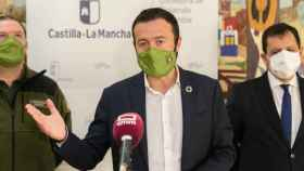El consejero de Desarrollo sostenible, José Luis Escudero, este lunes en rueda de prensa
