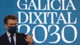 Feijóo durante jornadas Estratexia Galicia Dixital 2030.
