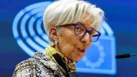 La presidenta del BCE, Christine Lagarde, durante una comparecencia en la Eurocámara.