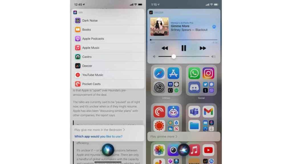 Siri podrá usar otras apps de música aparte de Apple Music