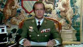 Juan Carlos I, durante su discurso en la noche del 23 de febrero de 1981.