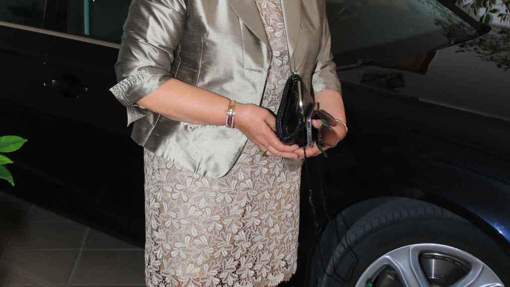 Carmen Bazán durante el bautizo de Víctor Janeiro Trapote en 2016.