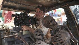 Zack Snyder durante el rodaje de 'Ejército de los muertos'.