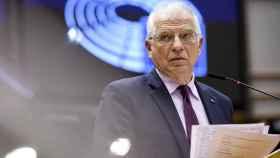 El jefe de la diplomacia de la UE, Josep Borrell, durante su comparecencia en la Eurocámara de este martes