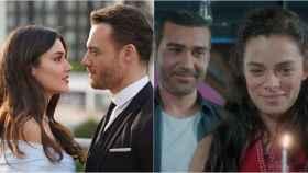 Los protagonistas de 'Love is in the air' y 'Mujer' en montaje de BLUPER.