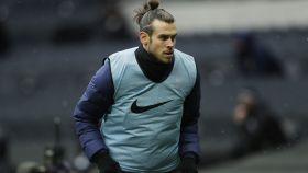 Gareth Bale, en un calentamiento del Tottenham en la temporada 2020/2021