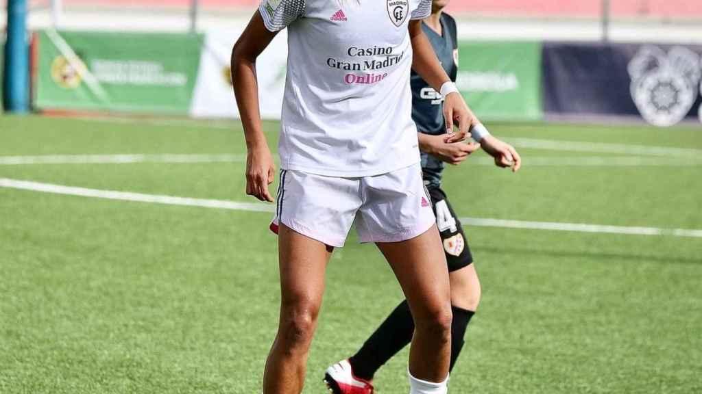 Laís Araújo, durante un partido con el Madrid CFF