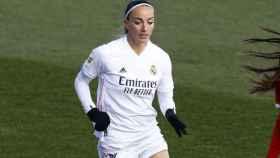 Kosovare Asllani, en un partido del Real Madrid Femenino en la temporada 2020/2021