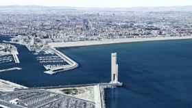 Figuración de la Torre Eólica que proyecta en Valencia Net de Gerrers. EE