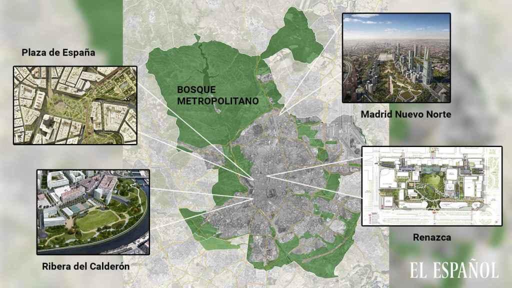 Grandes proyectos verdes en Madrid.