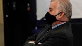 Luis Bárcenas, en el banquillo del juicio por la reforma de la sede de PP./