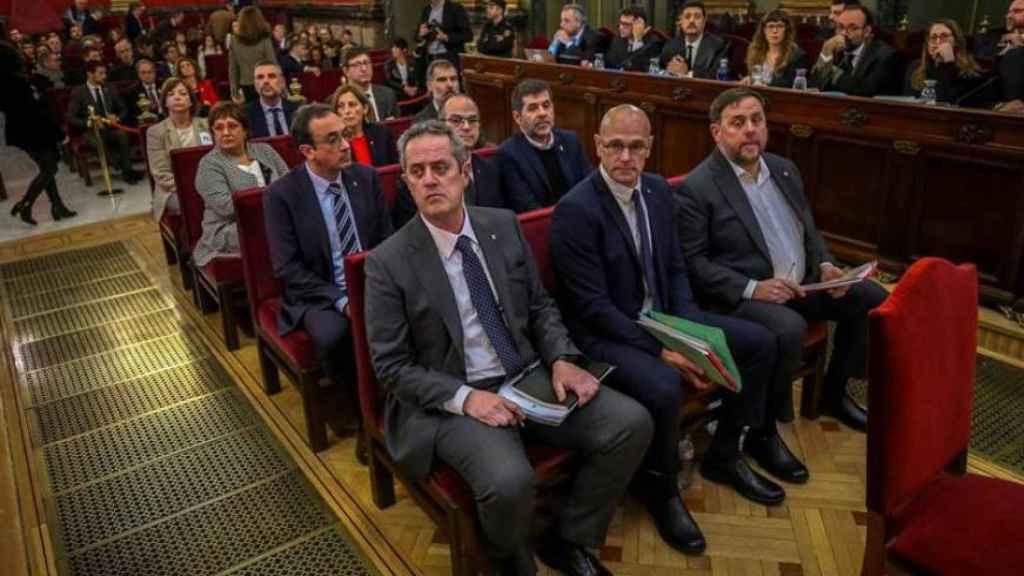Los acusados del juicio al 'procés' en el Tribunal Supremo./