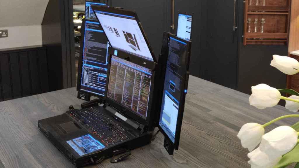 Expanscape Aurora 7, portátil de siete pantallas