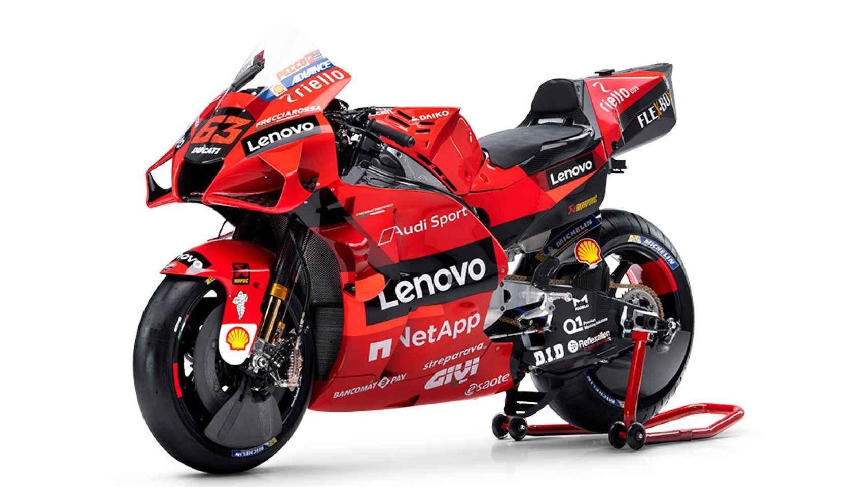 La nueva moto del Equipo Ducati Lenovo