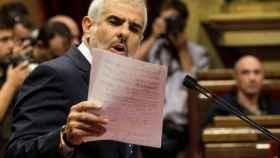Carlos Carrizosa en el Parlamento autonómico catalán.