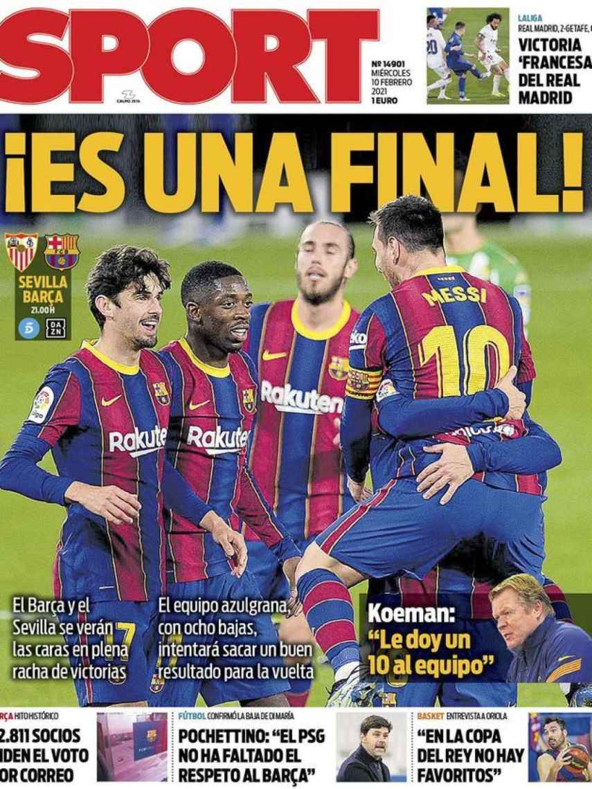 La portada del diario Sport (10/02/2021)