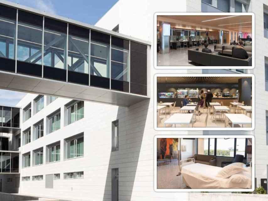 Algunas de las instalaciones de la Clínica Universidad de Navarra, en el campus de Madrid.