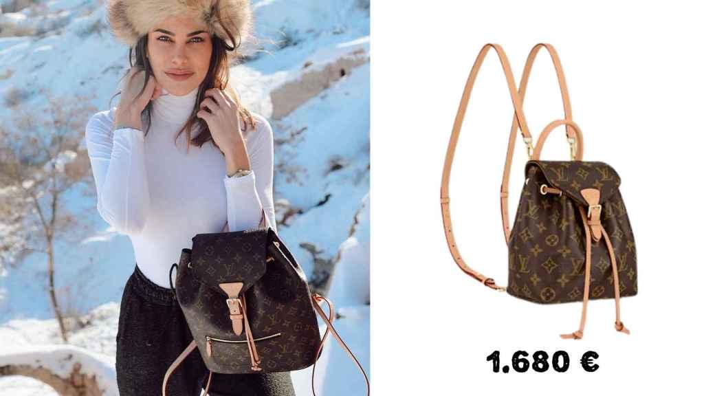Barber posa con una mochila de Louis Vuitton de 1.680 euros.