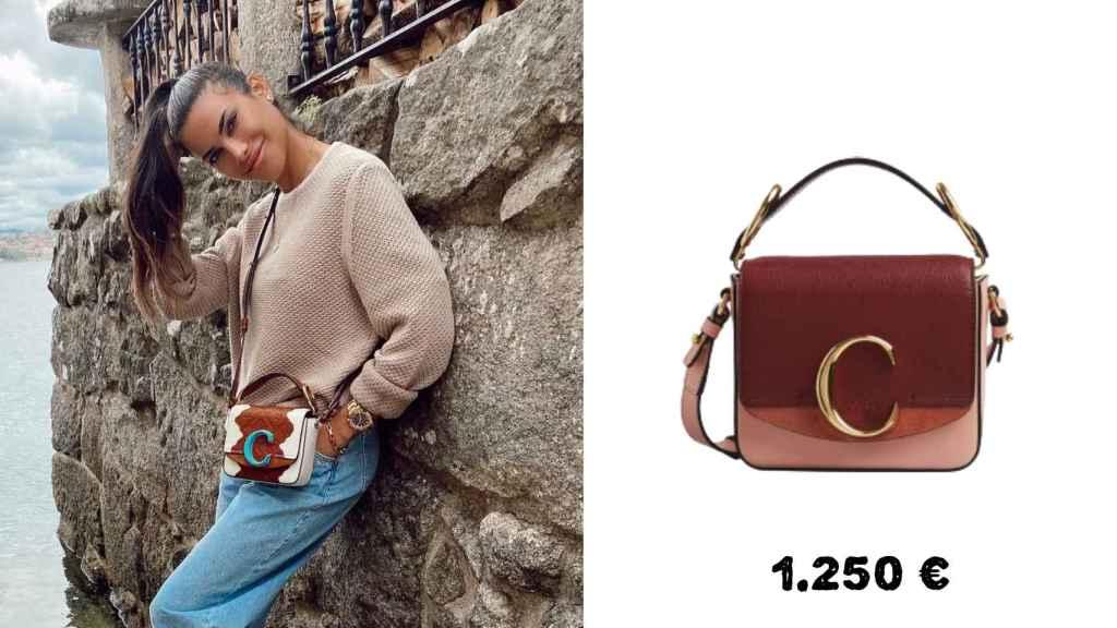 El bolso de Chloé de Carla cuesta 1.250 euros y es de edición limitada.