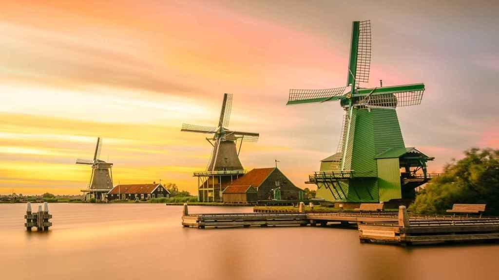 Molinos en Holanda.