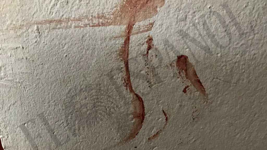 Manchas de sangre en las paredes