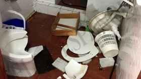 Los cuartos de baño también sufrieron las consecuencias