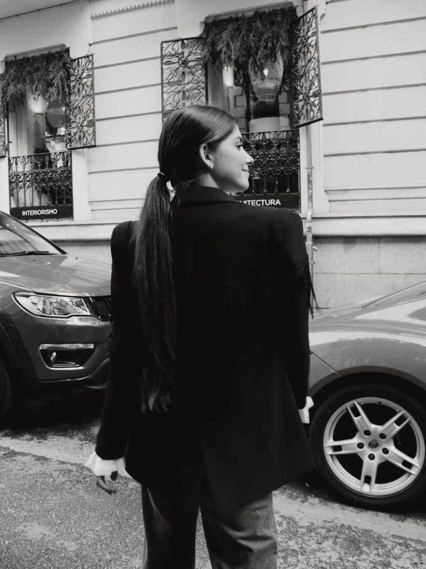María García de Jaime luciendo una coleta baja en su cuenta de Instagram.