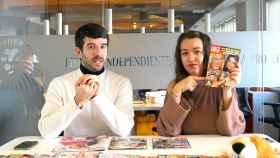 Raúl Rodríguez y Cristina Rodrigo en el kiosco rosa en vídeo.