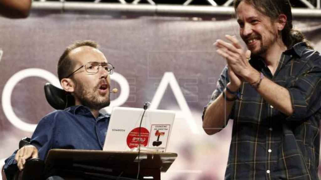 Pablo Echenique y Pablo Iglesias en una imagen de archivo. Efe