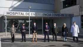 El presidente de la Junta de Andalucía Juanma Moreno junto al vicepresidente Juan Marín, han inaugurado en Sevilla el nuevo Hospital de Emergencia COVID-19.