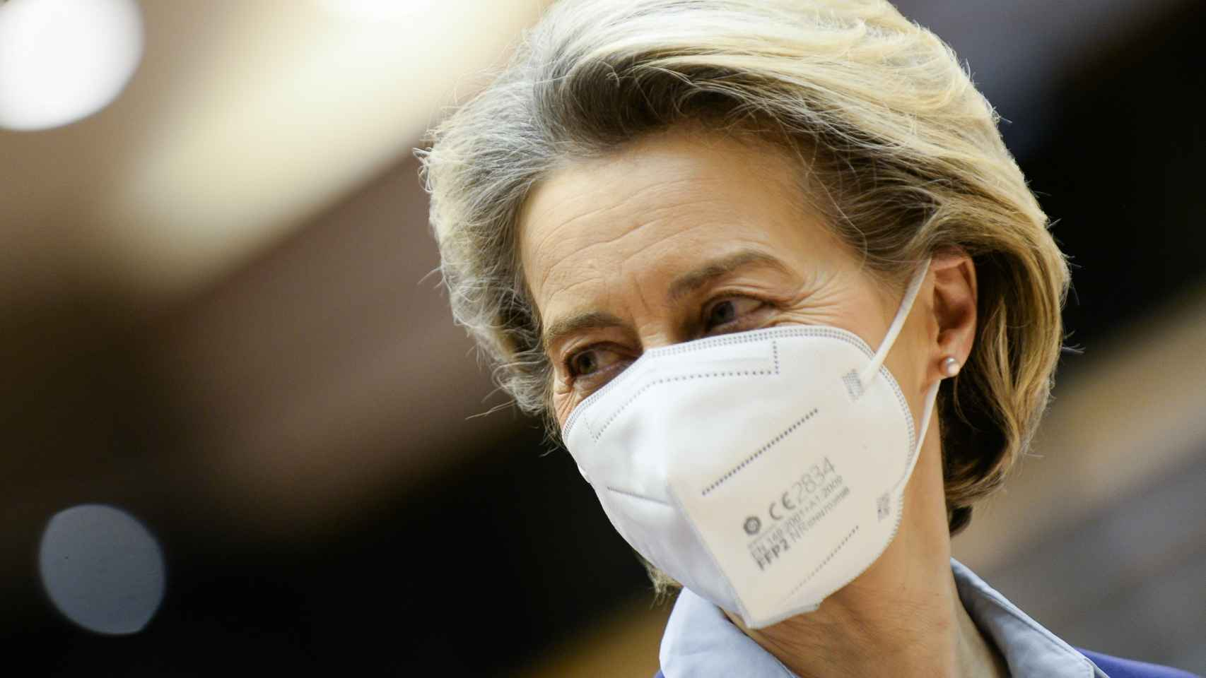 La presidenta Ursula von der Leyen, durante su comparecencia en la Eurocámara este miércoles