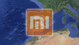 España en un mapa.
