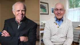 Los profesores John Hennessy (izq.) y David Patterson (der.)