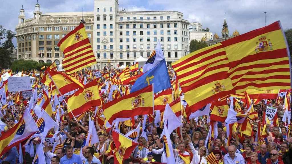 Manifestación constitucionalista en Barcelona.