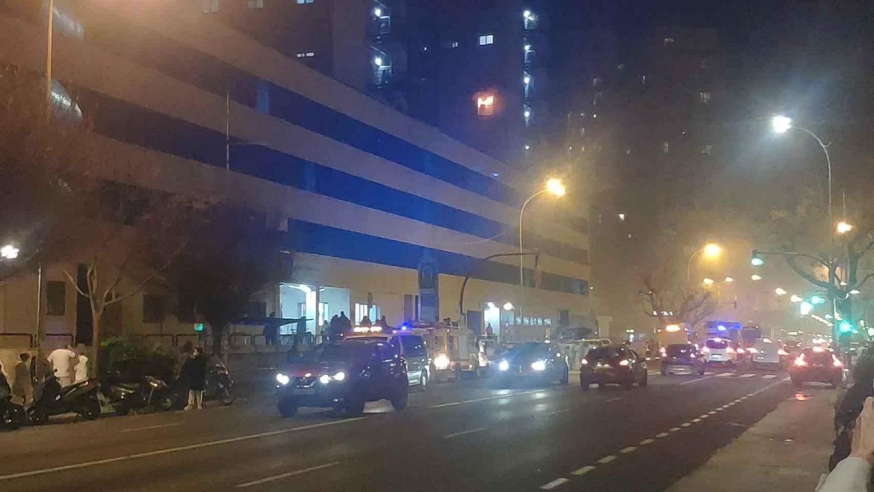 Incendio en la planta de Covid del Hospital Puerta del Mar de Cádiz