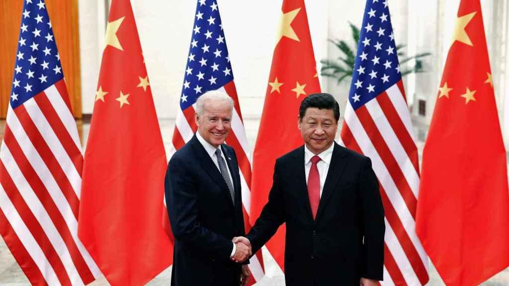 Joe Biden, presidente de EEUU, y Xi Jinping, presidente de China.