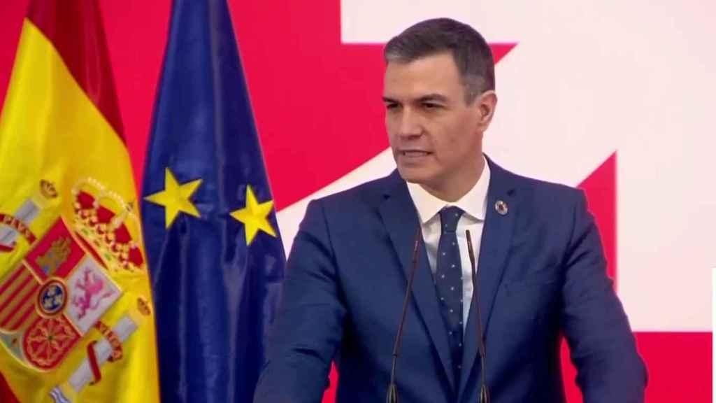 El presidente, Pedro Sánchez, durante la presentación de la Estrategia España Nación Emprendedora