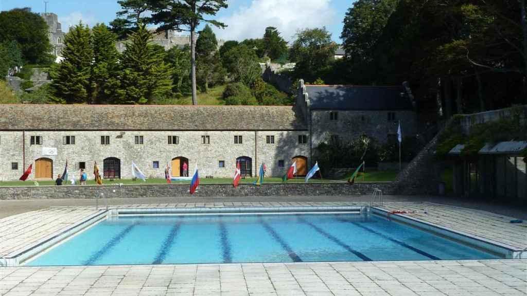 La piscina del colegio, en Gales (Reino Unido)