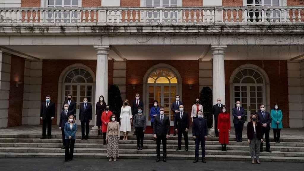 El Gobierno al completo, en la foto de familia de la semana pasada en La Moncloa.