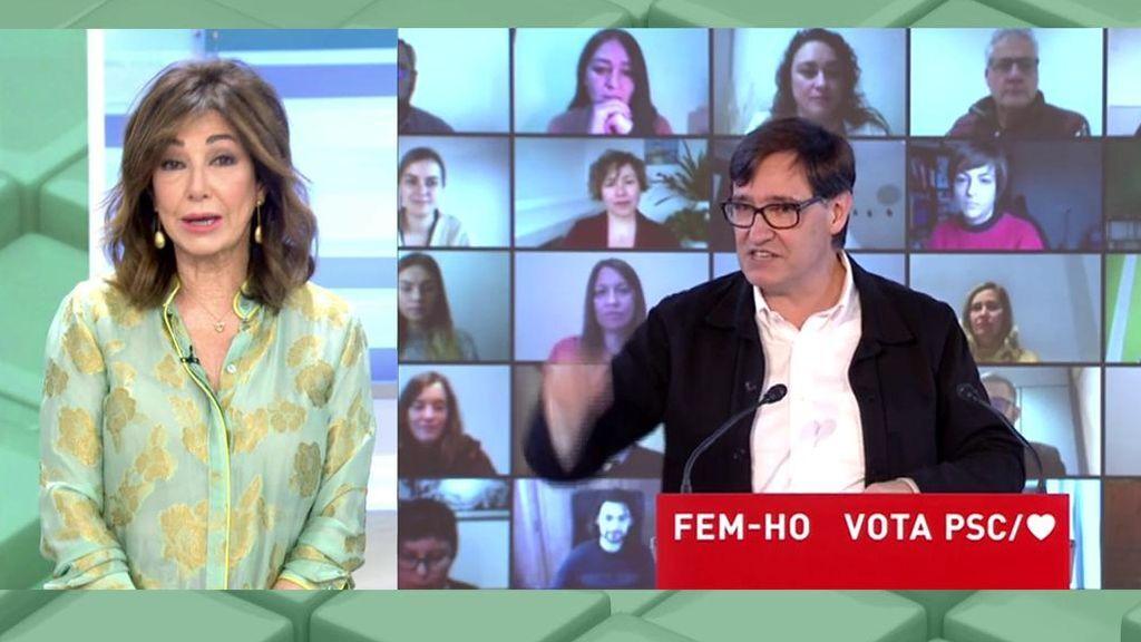 """Ana Rosa Quintana también insinúa que Salvador Illa """"es inmune porque se ha vacucado"""""""