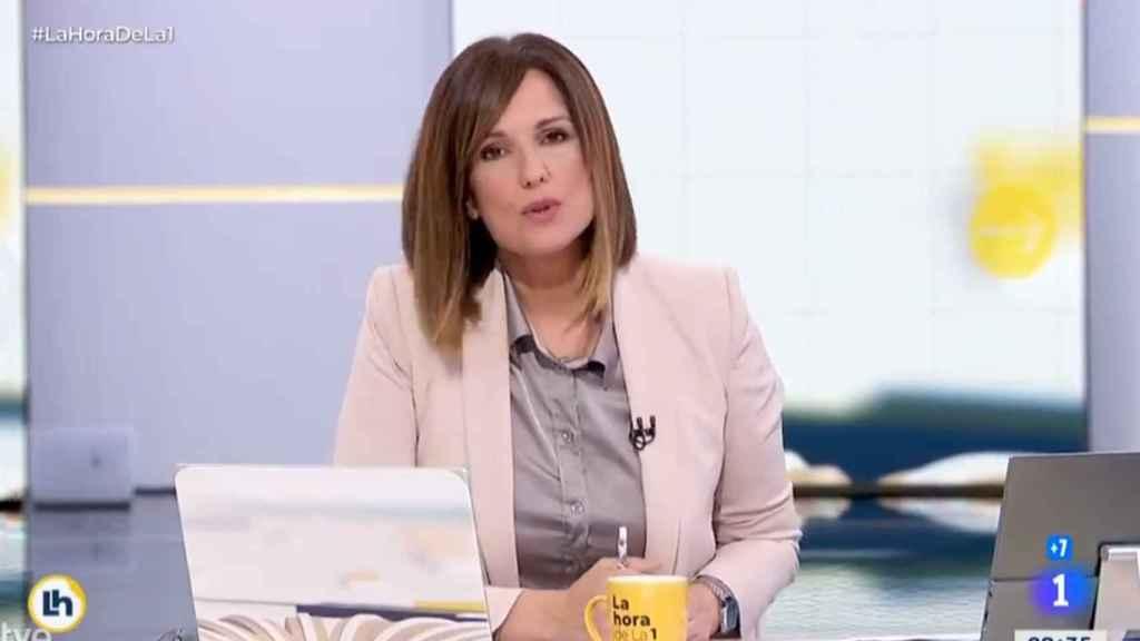 Mónica López, presentadora de 'La Hora de La 1', en su disculpa por el rótulo sobre la Princesa Leonor.