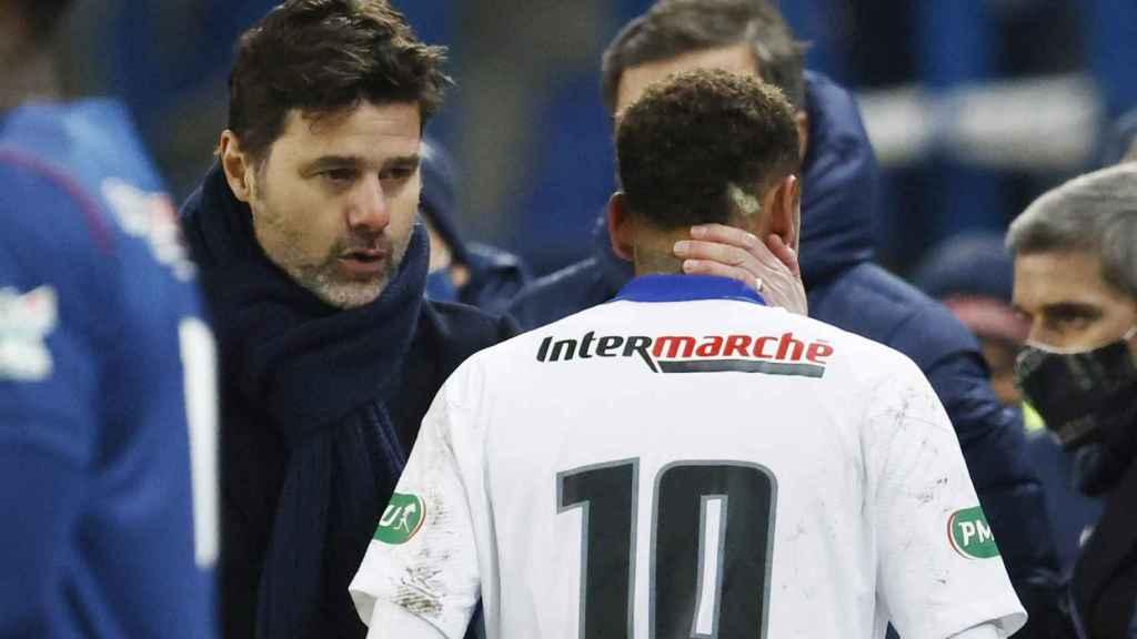 Mauricio Pochettino y Neymar Jr.