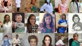 Imagen actual de investigadoras de Vithas e imagen de cuando eran niñas.